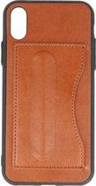 Wicked Narwal | Standing TPU Wallet Case voor iPhone X Bruin