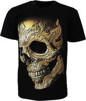 Pierced Skull Rock T-Shirt 3D Glow in The Dark Zwart