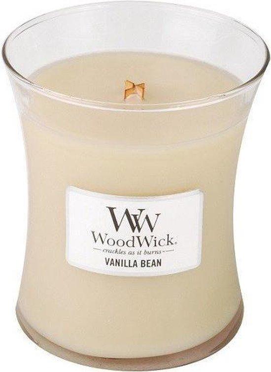 Woodwick Hourglass Medium Geurkaars - Vanilla Bean