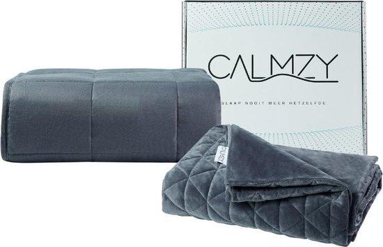 Calmzy Verzwaringsdeken Bundel 10 kg - Superior Soft - Verzwaringsdeken & Minky Verzwaringsdeken Hoes - 150 x 200 cm - Charcoal