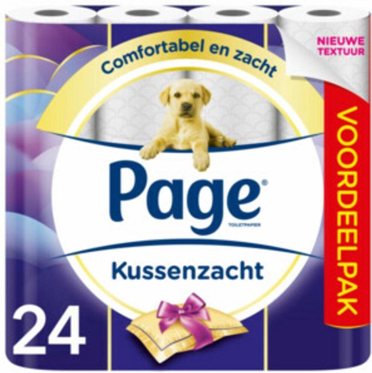 Page toiletpapier - Kussenzacht wc papier - 3-laags - voordeelverpakking - 24 rollen