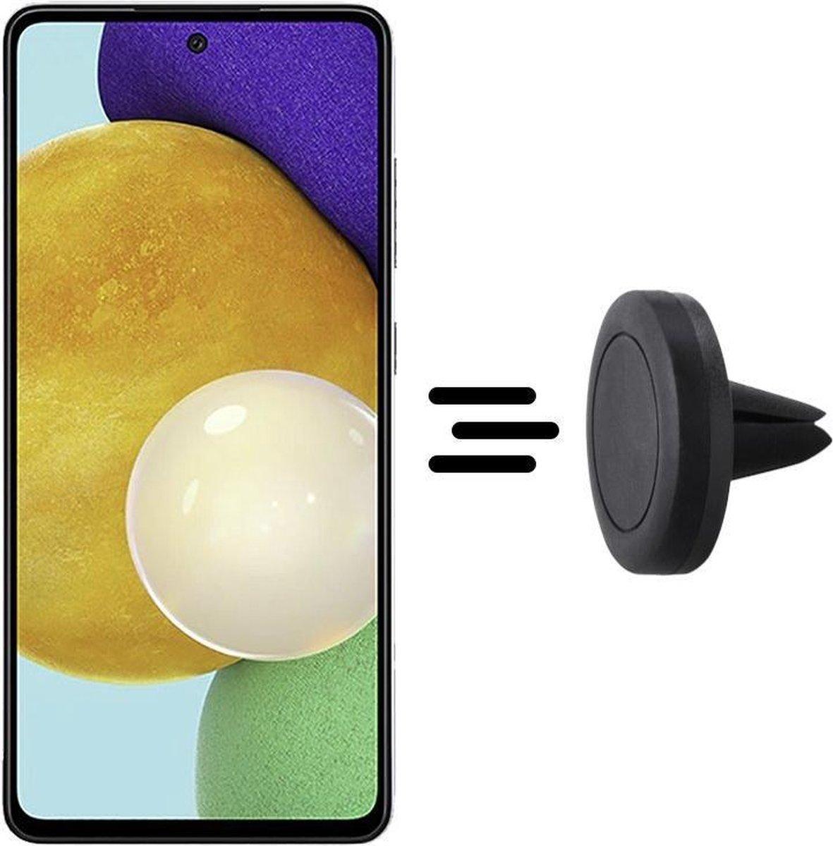 Shop4 – Samsung Galaxy A52 Autohouder Magnetische Ventilatierooster Houder Zwart