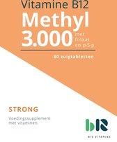 B12 Vitamins - B12 Methyl 3.000 met Folaat - 60 tabletten - Vitamine B12 methylcobalamine, actief foliumzuur - B12 Methyl - vegan - voedingssupplement
