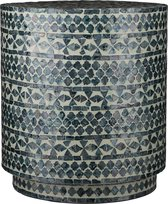 Casa Vivante Mosaic Bijzettafel - H44 x Ø40 cm - Blauw