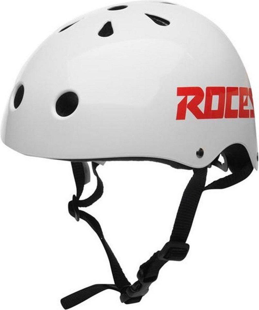 ROCES Helm Unisex AGGRESSIVE - Wit 48-52cm (S)