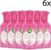 Air Wick Pure Aziatische Kersenbloesem - 6 x 250ml - Luchtverfrisser - Voordeelverpakking