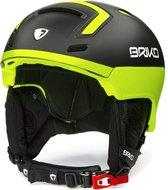 Briko Stromboli Ski helmet MATT BLACK YELLOW - Maat XL