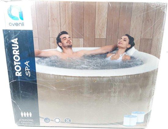 Spa Pool Opblaasjacuzzi voor 4 personen- Bubbelbad - Wellness