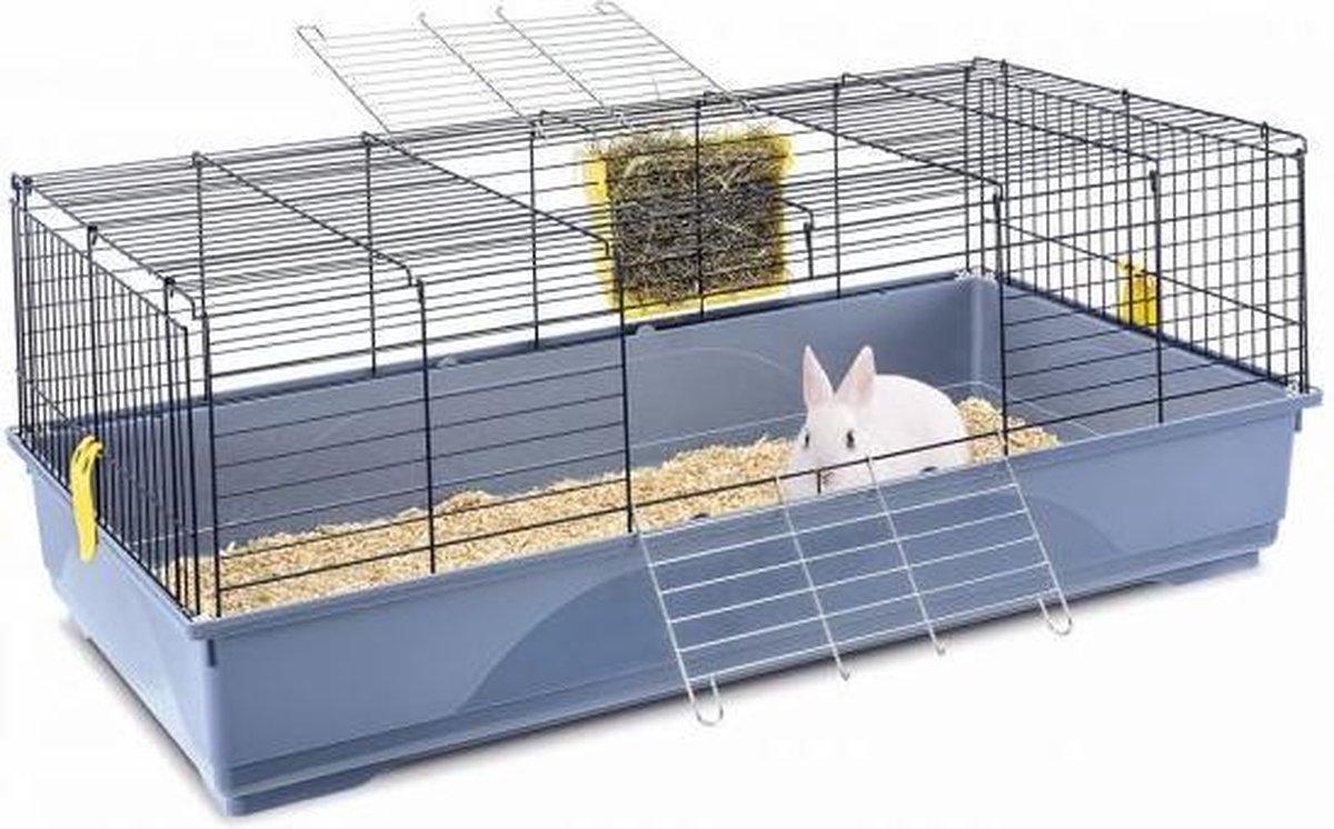 Imac konijnenkooi easy blauw / donkerblauw 120x60x46,5 cm - Imac