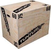 Tunturi Plyo Box - Houten fitness kist- 50/60/75 cm - Wit