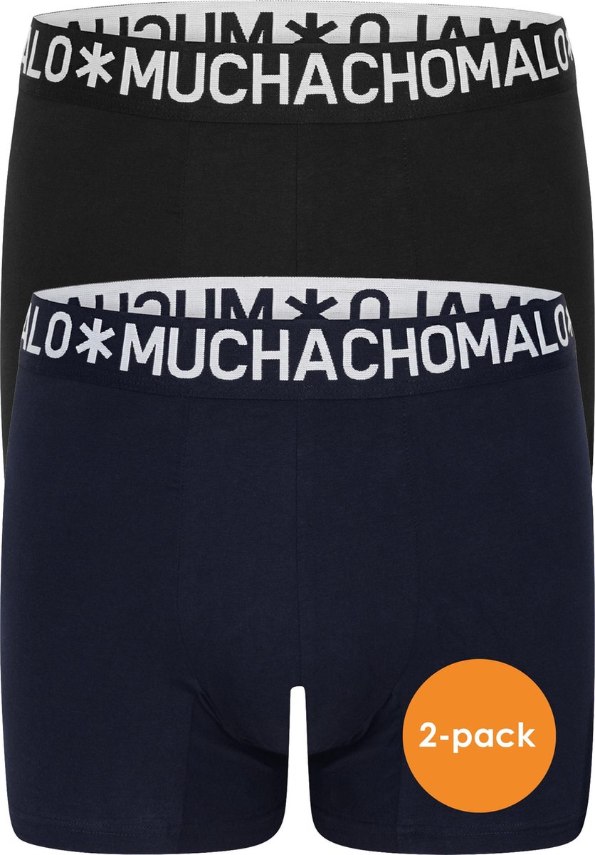 Muchachomalo Light Cotton heren boxershorts (2-pack) - blauw en zwart -  Maat: S