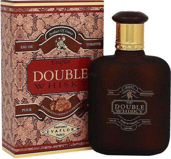 Whisky - DOUBLE - Heren Parfum -  Een sterk kruidige geur met Bergamot - Kruidnagel - Musk - 100 ml