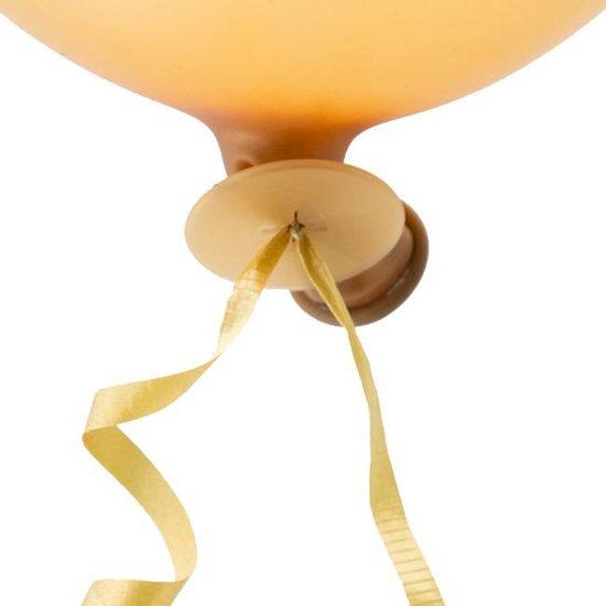 Ballon snelsluiters goud  met lint.