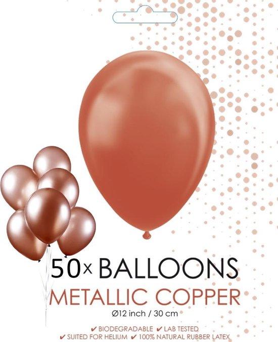 Globos Ballonnen 30,5 Cm Latex Koper Metallic 50 Stuks