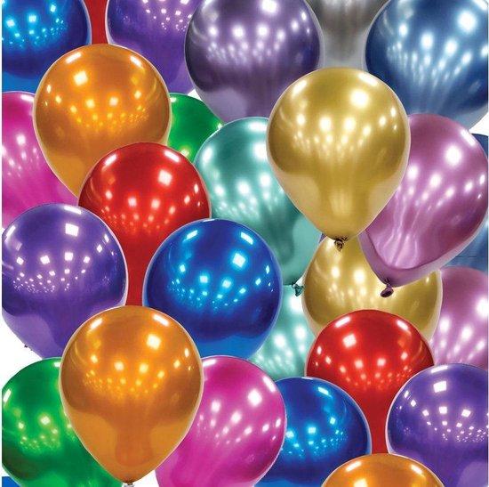 Glanzende Latex Paarse chrome ballonnen.