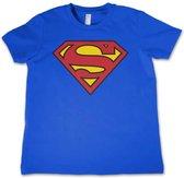 DC Comics Superman Kinder Tshirt -L- Shield Blauw