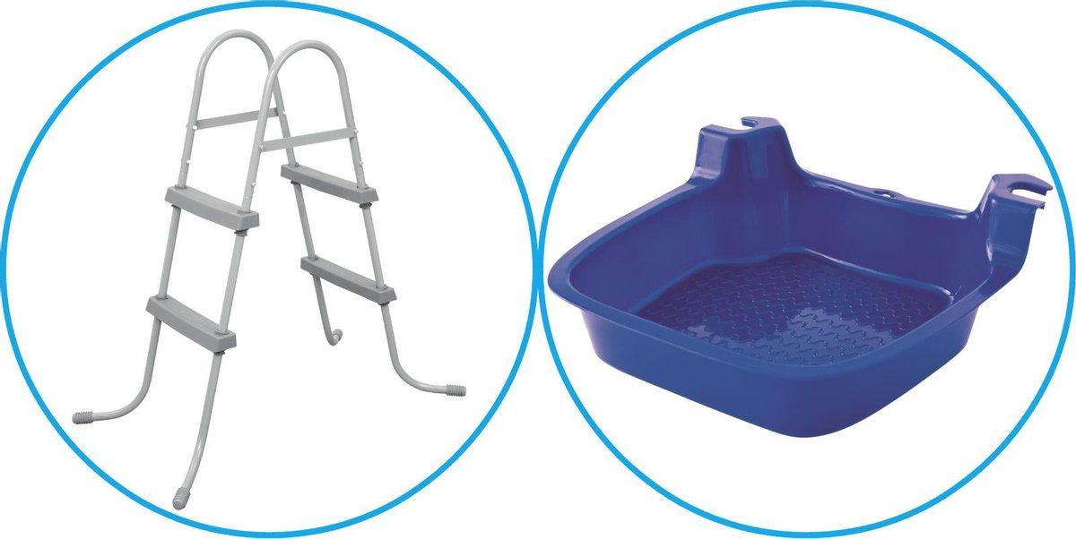 WAYS - Zwembad Accessoirepakket 2-delig - Zwembadtrap & Voetenbad