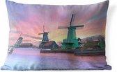 Buitenkussens - Tuin - De iconische windmolen van Amsterdam - 50x30 cm