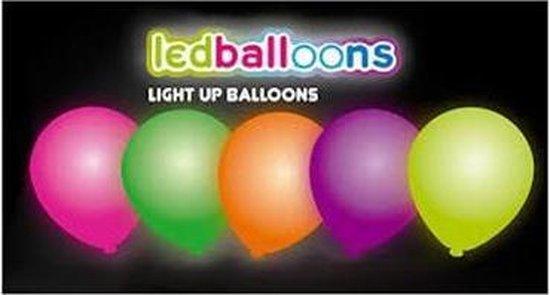 Neon ballonnen met LED-verlichting 5 stuks - .