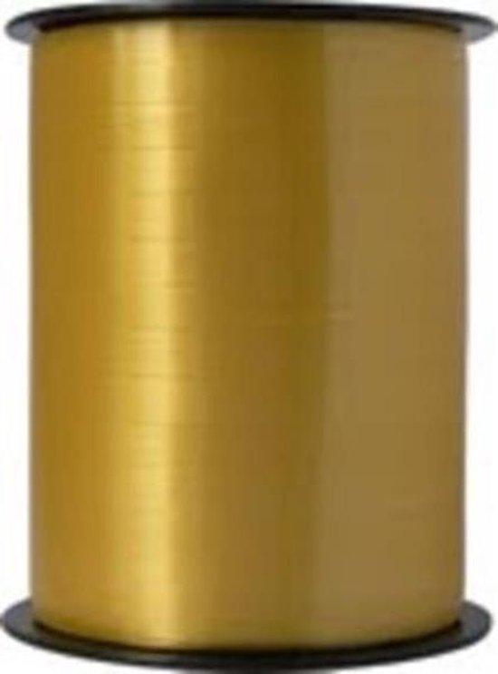 Krullint 5mm/500mtr goud