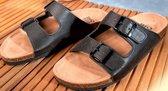 Sandalen met diep voetbed zwart maat 39