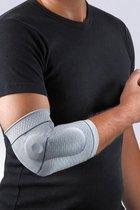 Elleboogbrace met silicone ondersteuning