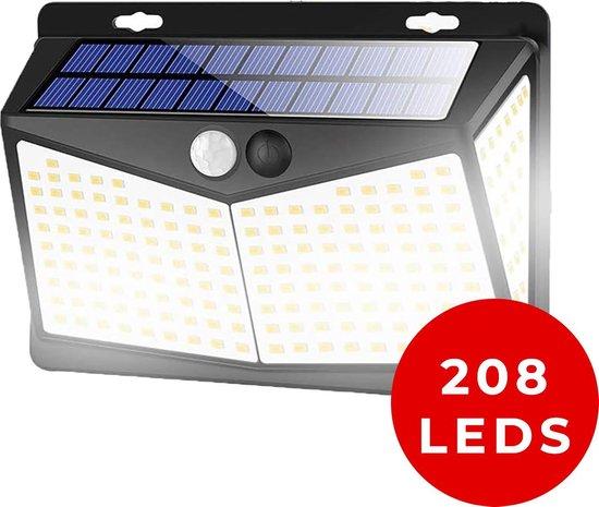 Living Nine Solar Buitenlamp met Bewegingssensor - Op Zonne Energie - Buitenverlichting Met Sensor - Dag en Nacht - 208 LEDS
