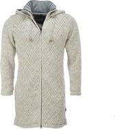 Merkloos / Sans marque Pure Wool - Ecru - Vest Dames - 100% Wol Unisex Vest Maat M