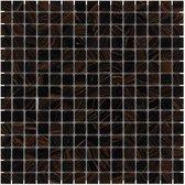 1,04m² - Mozaiek Tegels - Amsterdam Vierkant Bruin Grijs 2x2