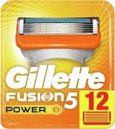 Gillette Fusion5 Power Scheermesjes - 12 Stuks