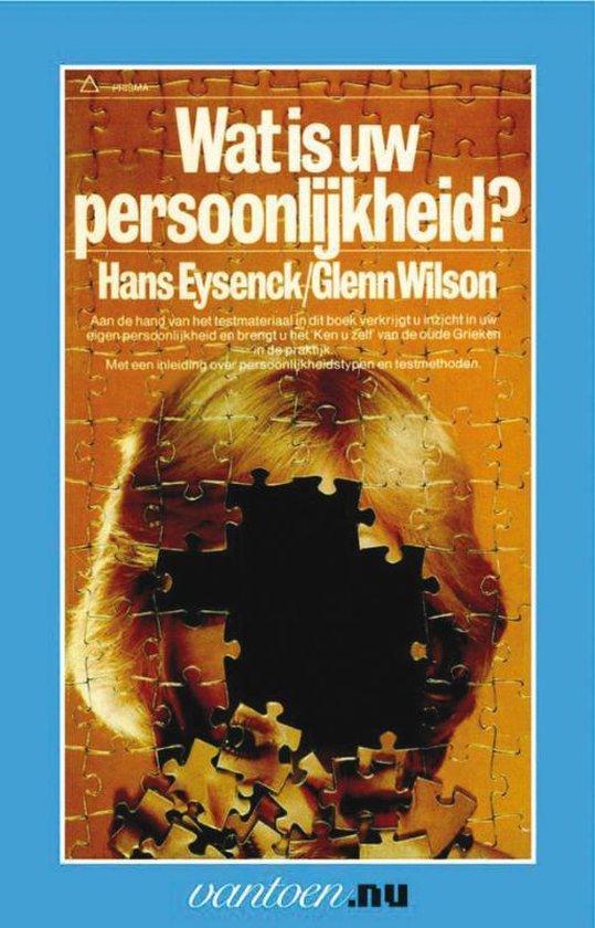 Boek cover Vantoen.nu  -   Wat is uw persoonlijkheid? van H.J. Eysenck (Paperback)