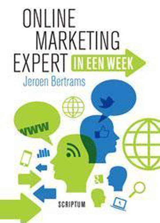 Boek cover Online marketing expert in een week van Jeroen Bertrams (Hardcover)