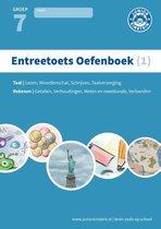 Boek cover Entreetoets oefenboek 1 Gemengde opgaven voor groep 7 Opgaven voor rekenen en taal van