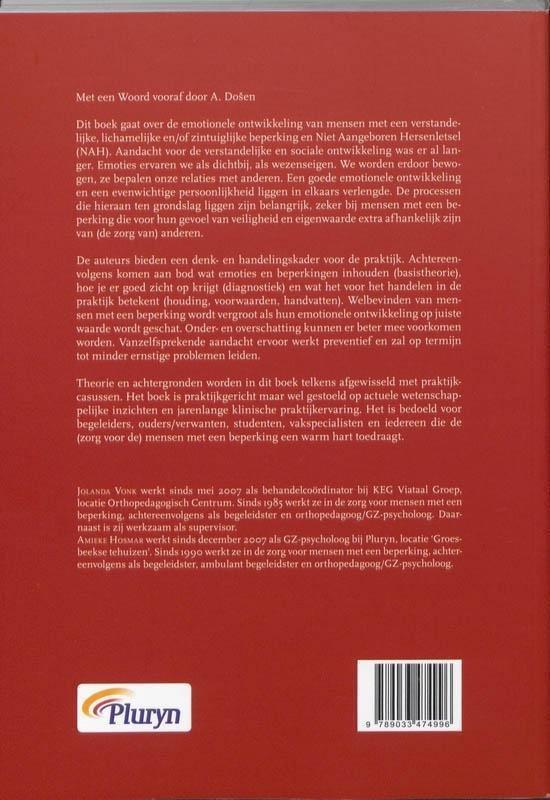 Emotionele ontwikkeling bij mensen met een beperking - J. Vonk
