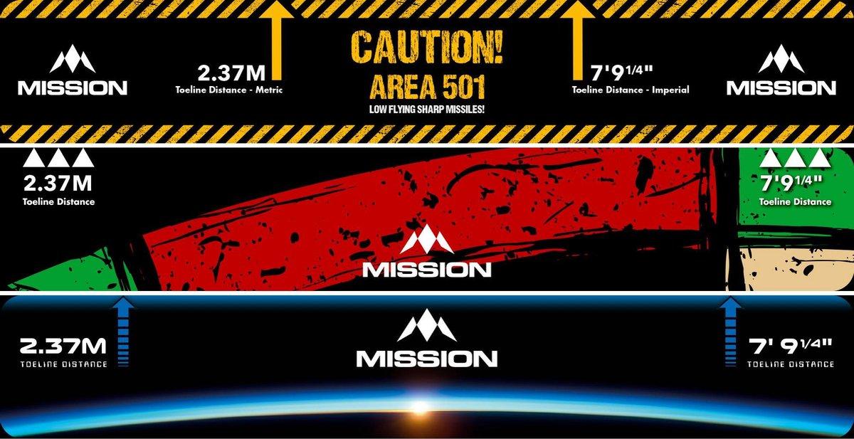 Mission Throw Line Oche - Caution Area 501