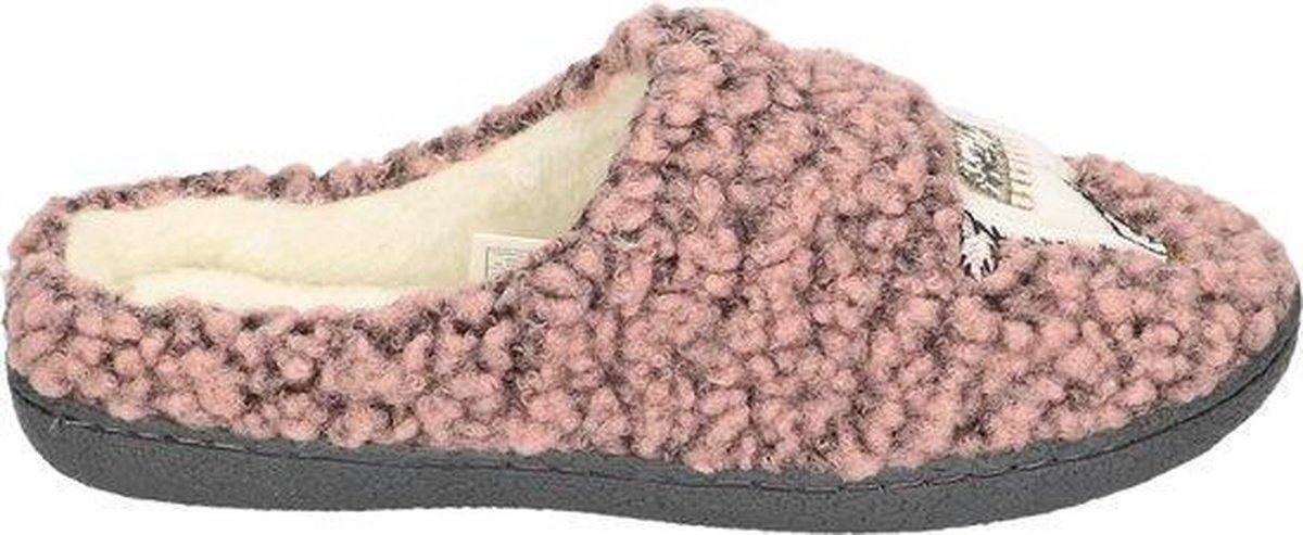 Super Cracks Home Lama Dames Pantoffels - Old Pink - Maat 39