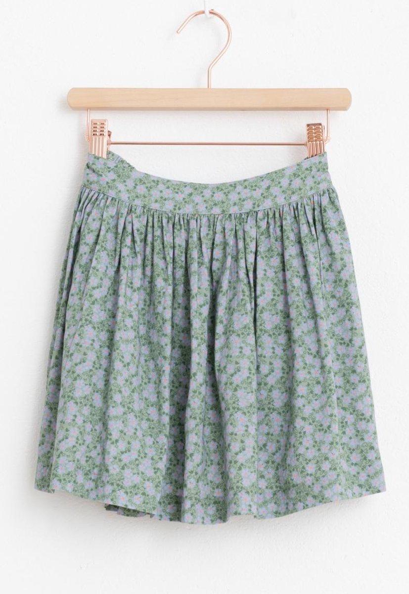 Sissy-Boy - Groene mini rok met all over print
