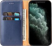 Mobiq - Premium Business Wallet iPhone 12 Mini 5.4 inch Blauw