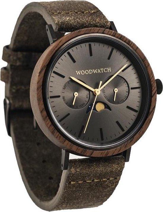 De officiële WoodWatch   Iron Walnut Khaki   Houten horloge heren