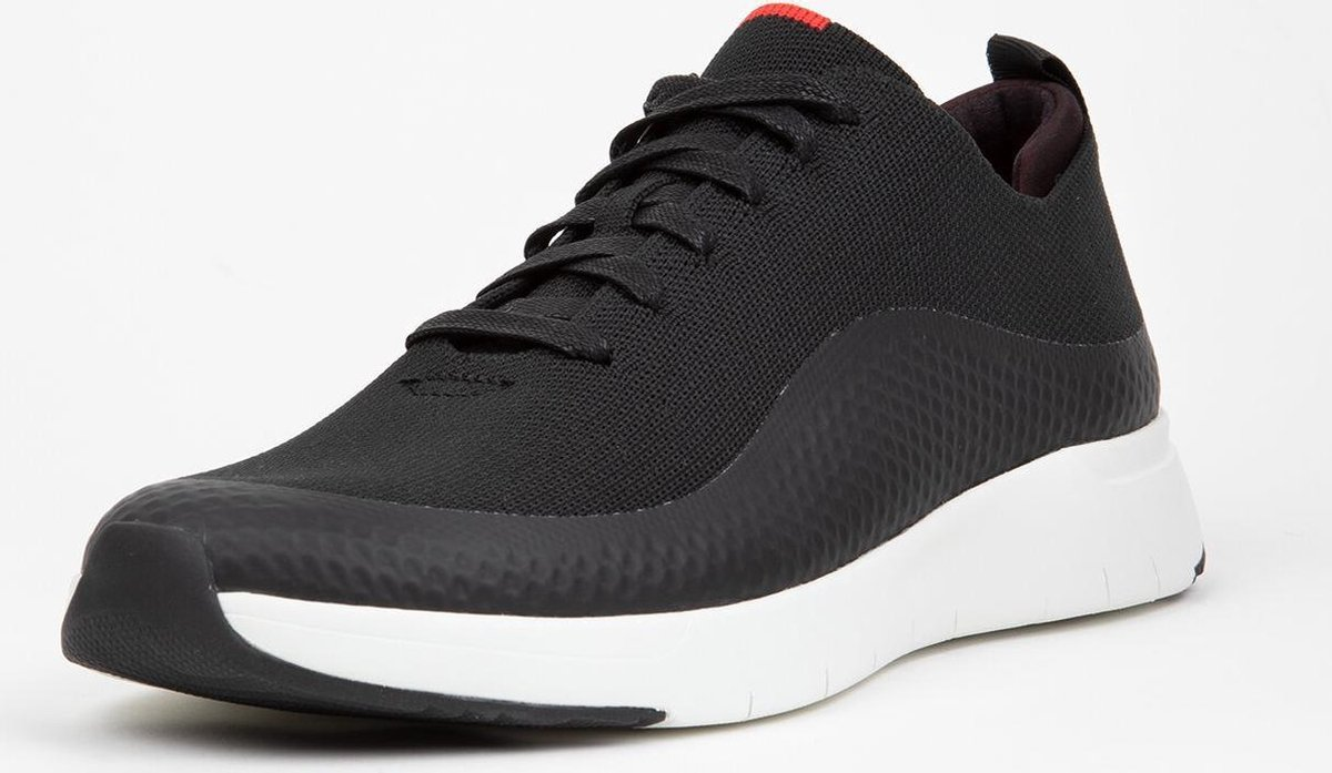 FitFlop™ Eversholt Knit Sneakers Poly/Tpu Men Black - Maat 42