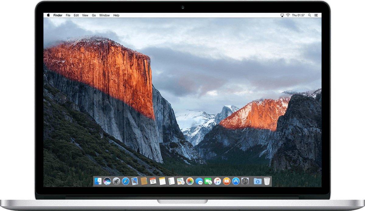 Apple MacBook Pro Retina (Refurbished) - 15.4 inch (38cm) - Quad Core i7 2.5 - 16GB - 512GB SSD - MacOS 11 Big Sur - A-grade