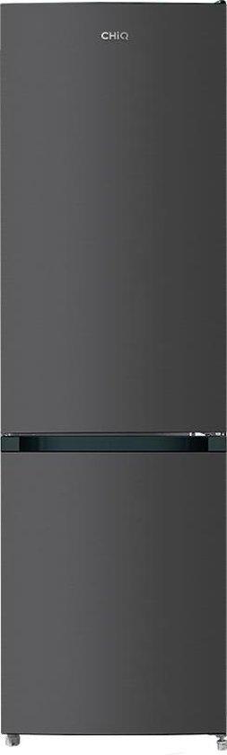 Koelkast: CHiQ FBM250NE42 - Koel-vriescombinatie - 250 Liter (180 + 70) - Donker RVS - Omkeerbare deuren, van het merk chiq