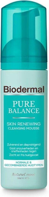 Biodermal Pure Balance Skin Renewing Cleansing Mousse - Gezichtsreinigings mousse - 150ml