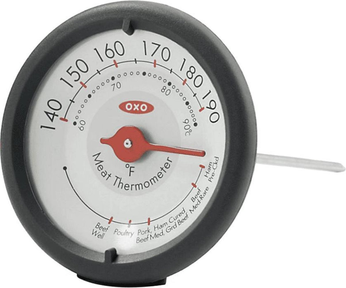 Leave-in-Meat thermometer, analoog 17 cm