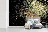 Fotobehang Glitter structuur of achtergrond - Goun glitters op  zwarte achtergrond breedte 450 cm x hoogte 300 cm - Foto print op vinyl behang (in 7 formaten beschikbaar) - slaapkamer/woonkamer/kantoor
