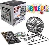 Bingo Spel - Bingomolen - Bingoballen - Bingo kaarten - Fiches - Spelbord - Bingo molen - Metaal - Lotto Kinderspel