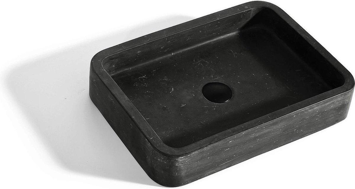 Mawialux opzet waskom | Natuursteen | 50x36 cm | zwart | ML-L503-Z