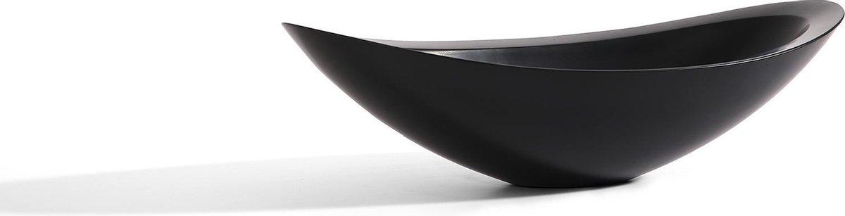 Mawialux opzet waskom | Solid surface | 58x33 cm | Mat zwart | ML-1004WB-Z