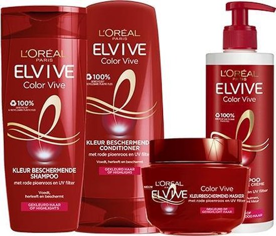L'Oréal Paris Elvive Color Vive Shampoo - 6 x 250 ml - Voordeelverpakking