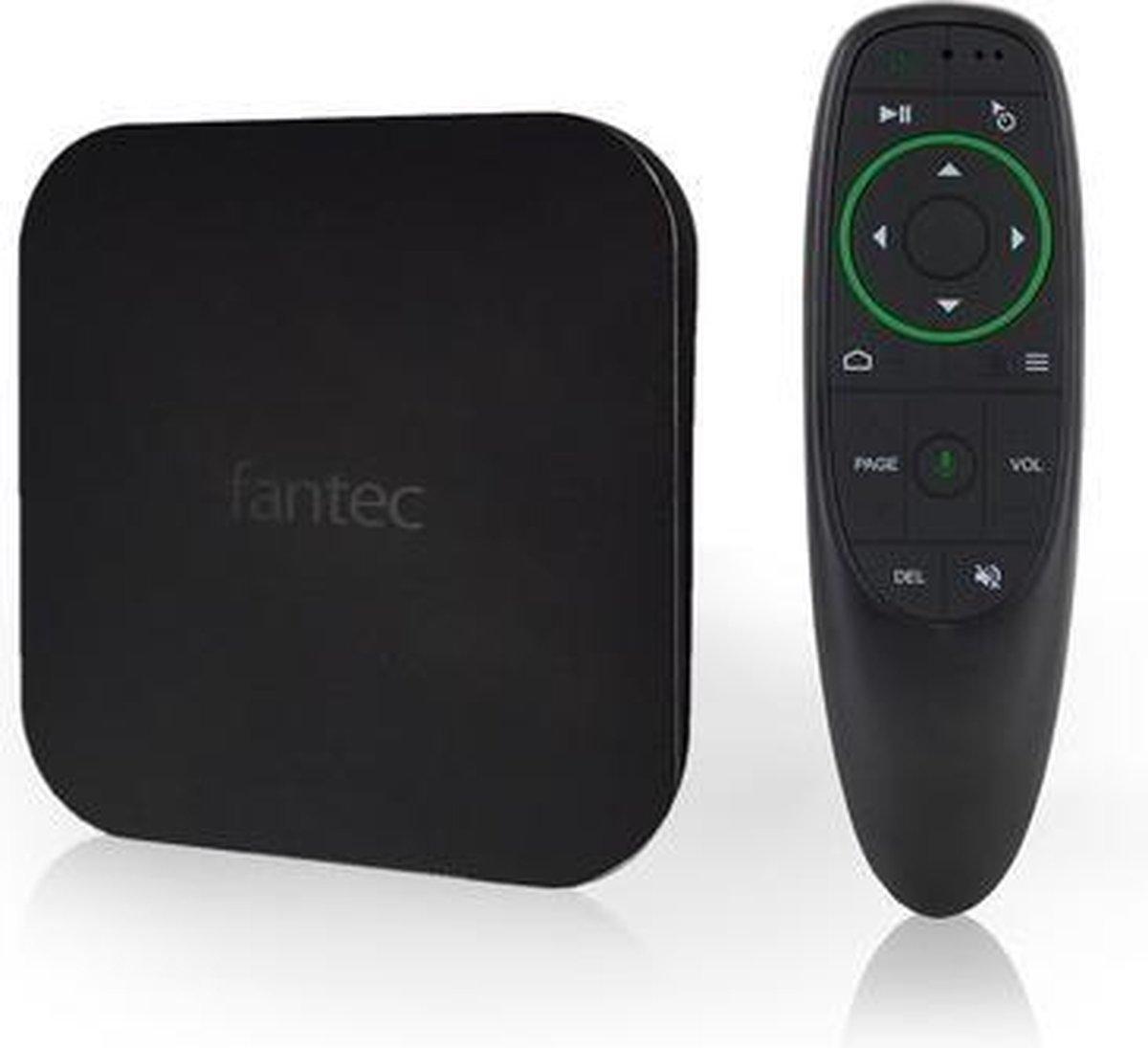 Fantec 4KS7700Air digitale mediaspeler 16 GB 4K Ultra HD 3840 x 2160 Pixels Wi-Fi Zwart